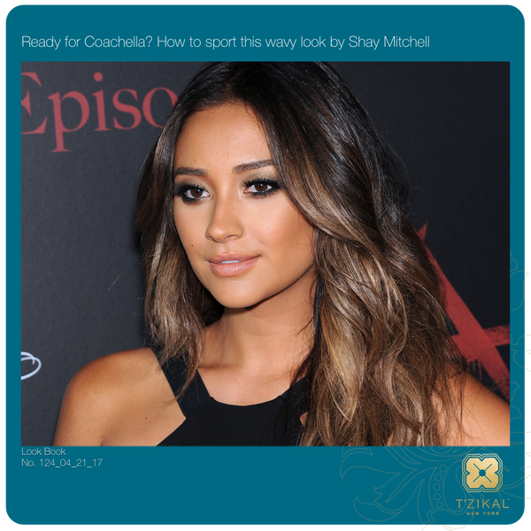 Shay Mitchell Wavy Look of Coachella