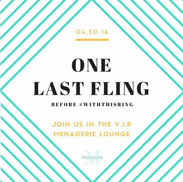 One Last Fling #withthisring event by menagerie sponsored by T'zikal Beauty