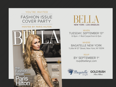 Bella Fashion Issue Paris Hilton Invite