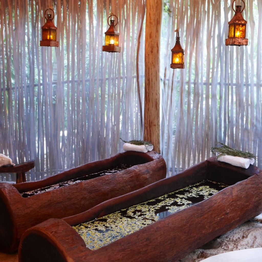 Discover Mayan Luxe spa treatments Viceroy Riviera maya T'zikal All Natural Hair  and skincare with ojon oil