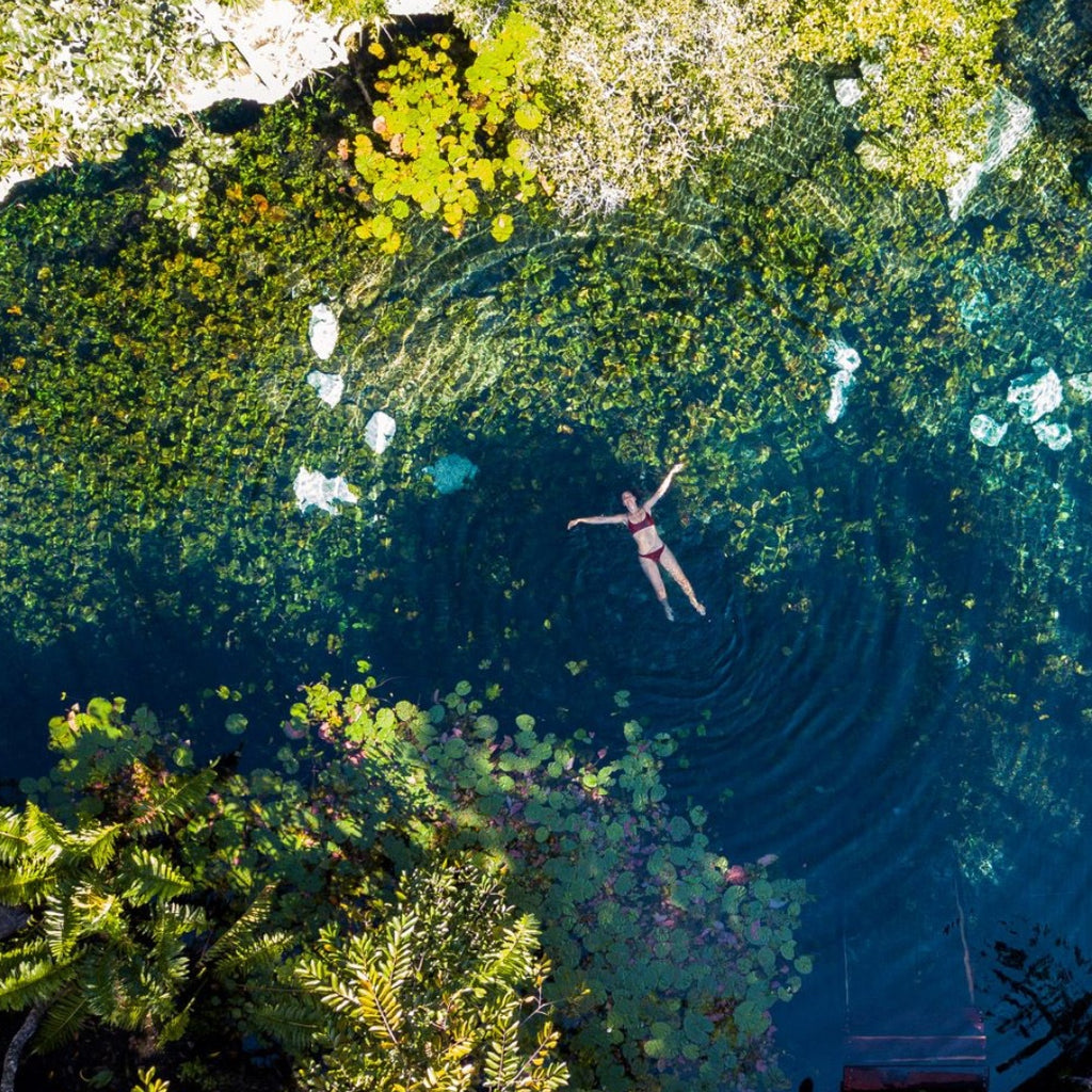 Discover Cenote Nicte-Ha, Tulum, Secret Maya Destination, T'zikal All Natural Haircare with ojon oil