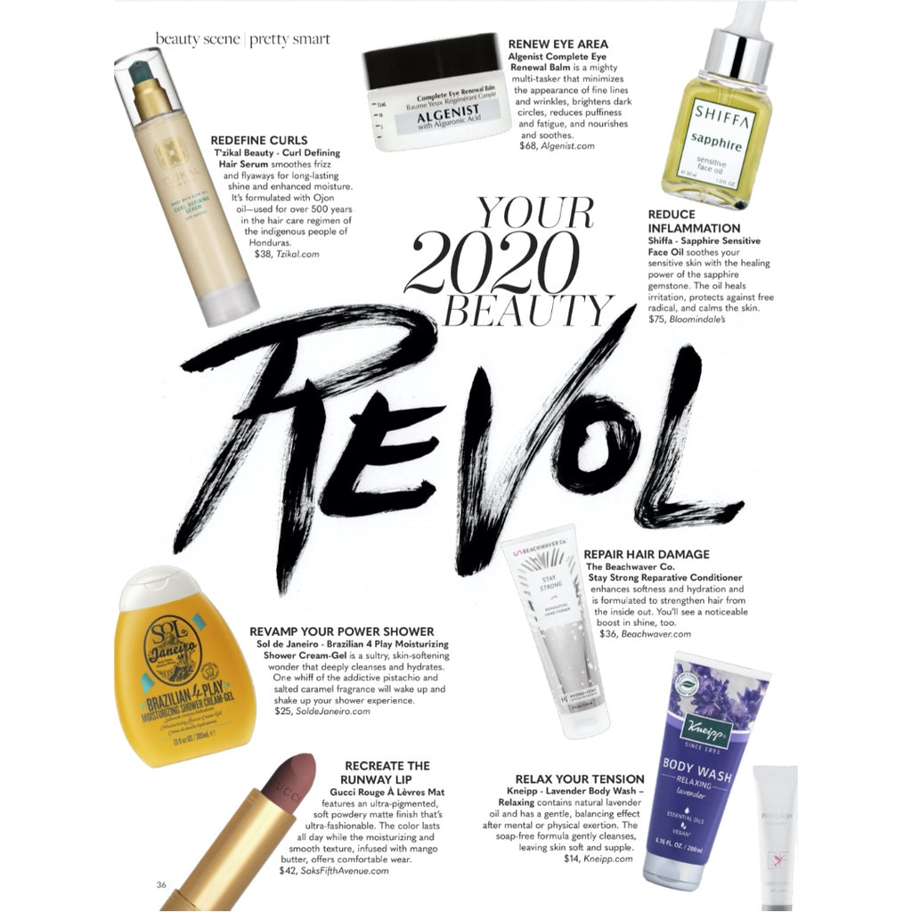 T'zikal All Natural Haircare with ojon oil Press Bella Magazine Reinvention Issue featuring Mel Robbins