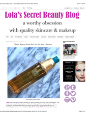 Lola's Secret beauty Blog T'zikal Beauty Shine Rich Dry Oil Mist