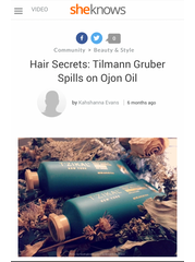 sheknows: Hair Secrets: Tilmann Gruber Spills on Ojon Oil
