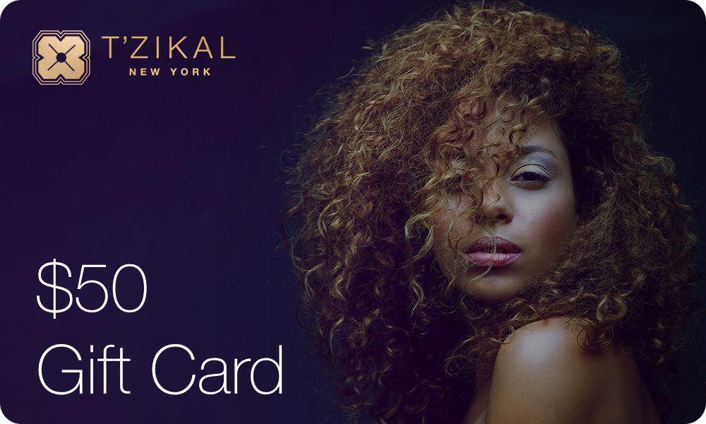 T'zikal Beauty Electronic Gift Card Value $50;- USD