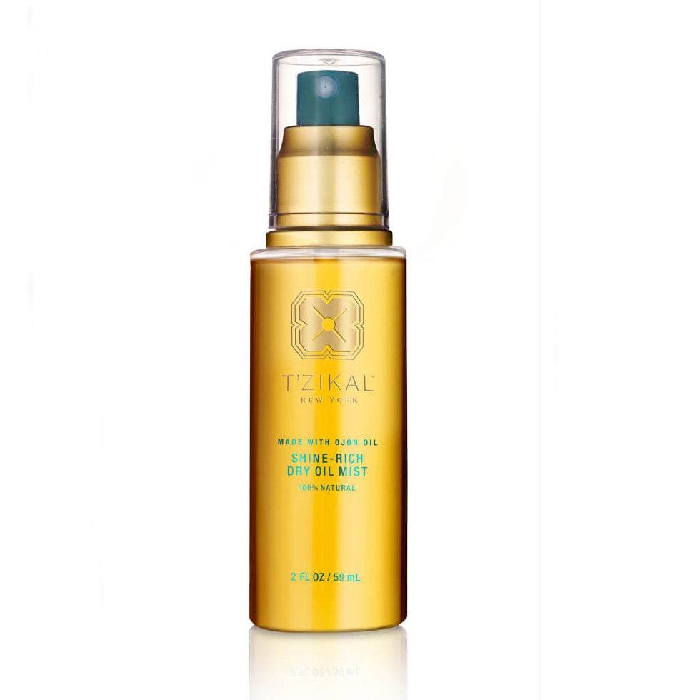 Discover T'zikal Shine Rich Dry Oil Mist with Ojon oil