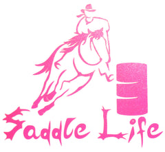 "5"" x 5"" Barrel Racer Vinyl Decal"