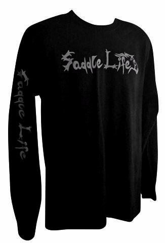 Black Long Sleeve Tee w/Gray Logo