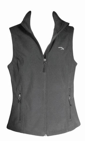 Ladies Dark Gray Vest w/Light Gray Embroidered Logo