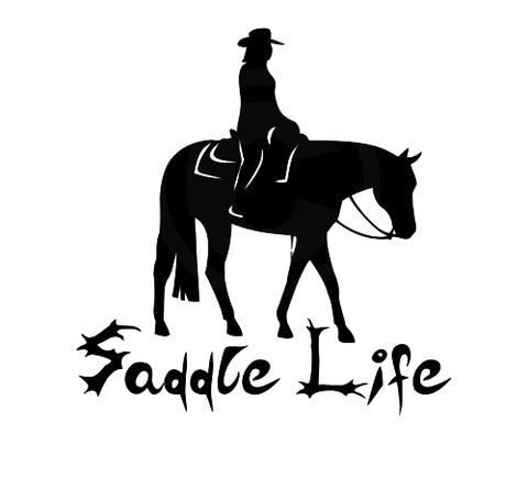 "5"" x 5"" Female Western Pleasure Vinyl Decal"