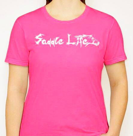 Ladies Neon Pink Soft Short Sleeve Tee