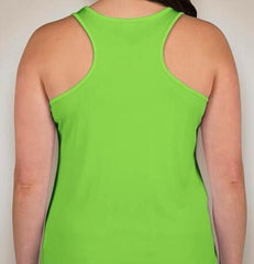 Ladies Bright Lime Performance Racerback Tank