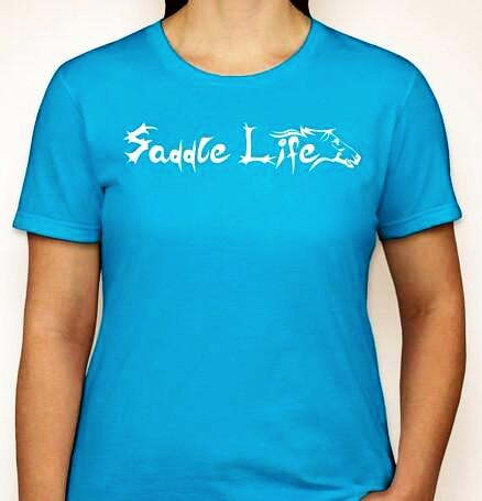 Ladies Neon Blue Soft Short Sleeve Tee