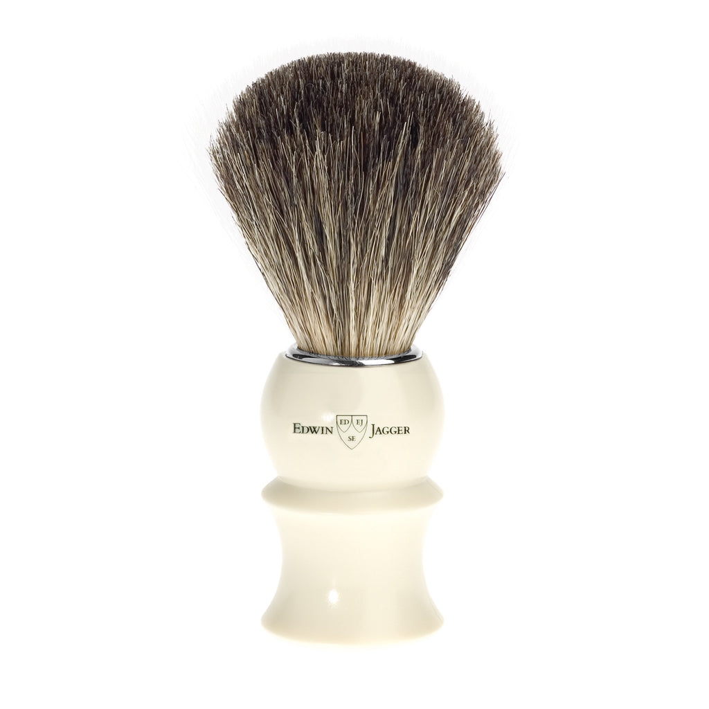 Edwin Jagger Pure Badger Ivory Shaving Brush