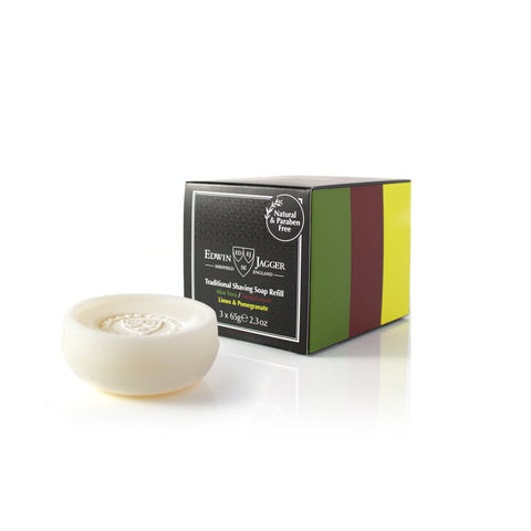 Edwin Jagger Shaving Soap Refill MultiPack - Aloe Vera, Sandalwood, Lime & Pomegranate