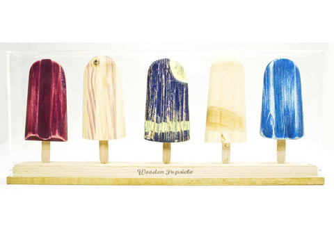 Johnny Hermann | Wooden Popsicle - teca 5 pezzi | B02