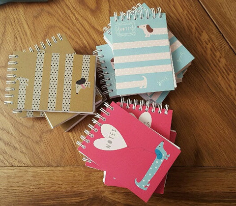 A7 Mini Sausage Dog Reporter Note Books