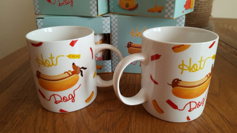 "Jack Evans ""Hot Dog"" Sausage Dog Fast Food Bone China Mug"