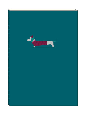 Dachshund A6 Stitched Notebook