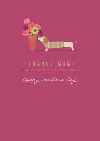 Dachshund Happy Mother's Day Greeting Card