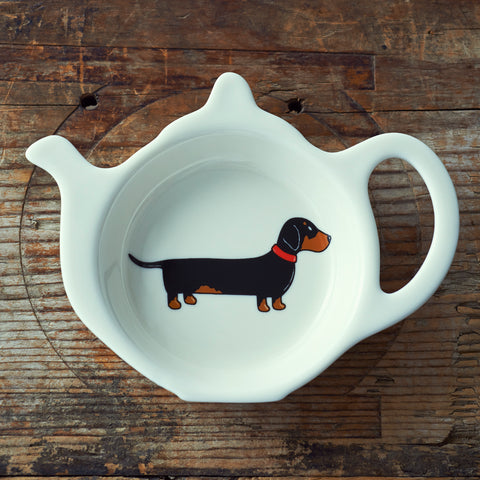 Sweet William Dachshund Teabag Dish