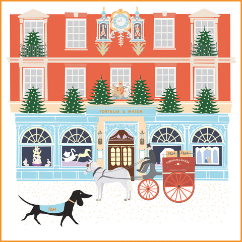 Fortnum & Masons Christmas Dachshund Greeting Card