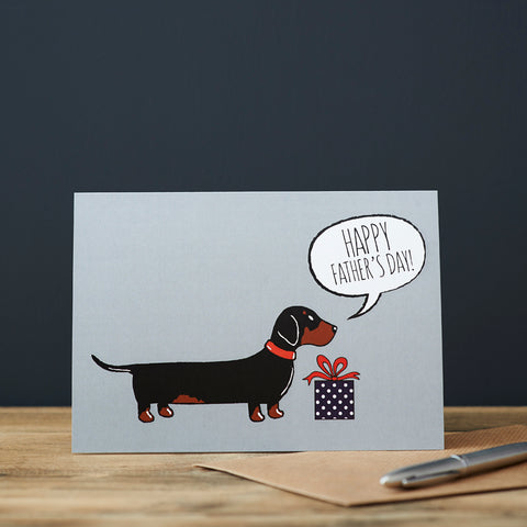 Sweet William Father's Day Dachshund Greeting Card