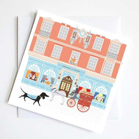 Fortnum & Masons Dachshund Greeting Card