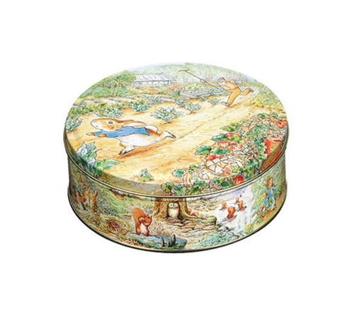 Vintage Peter Rabbit Round Storage Tin