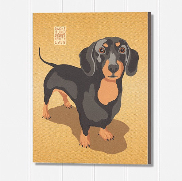 "Dachshund ""RALF"" Wooden Wall Plaque"