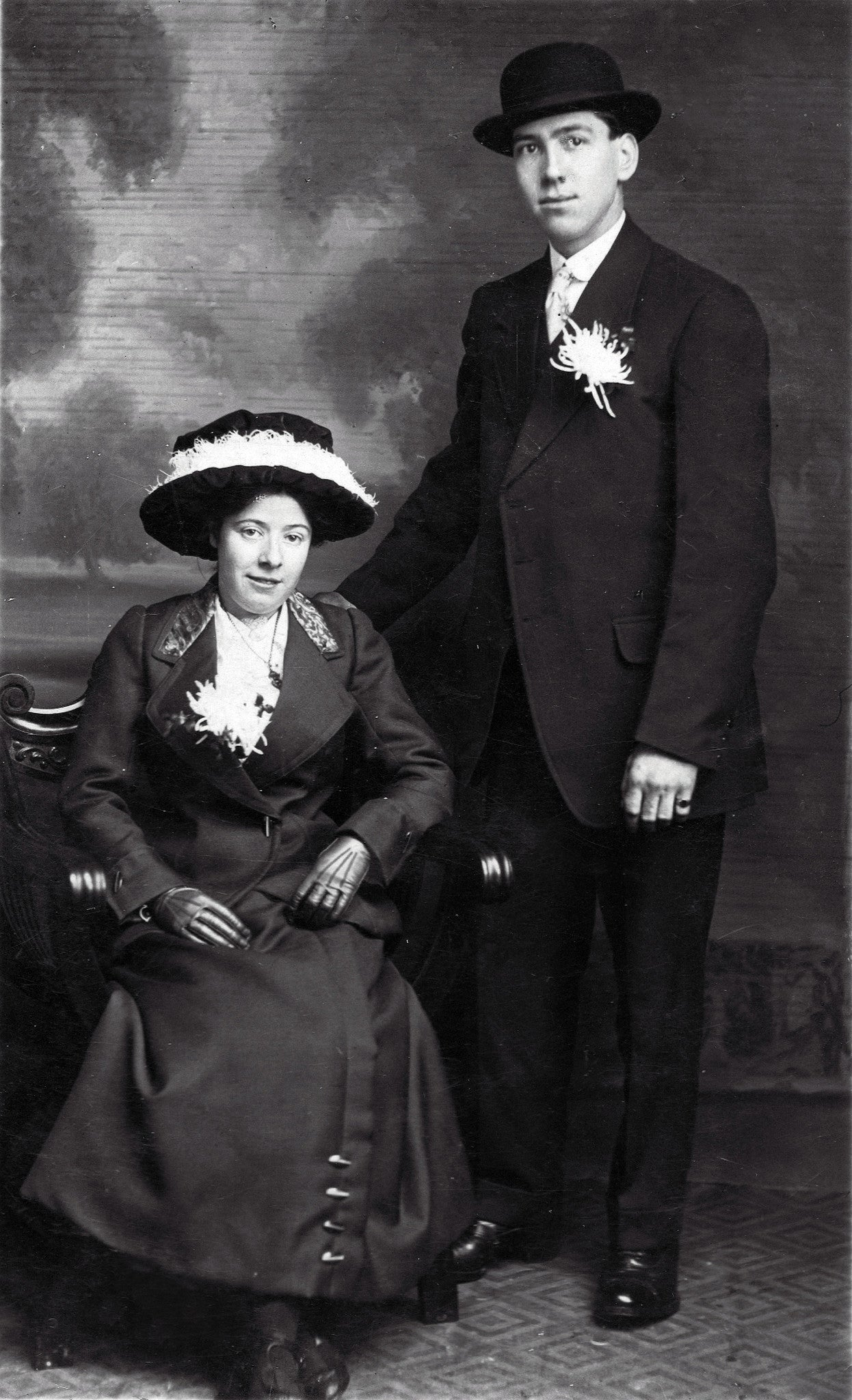Fanny & Peter Proctor my grandparents on their WD 1915