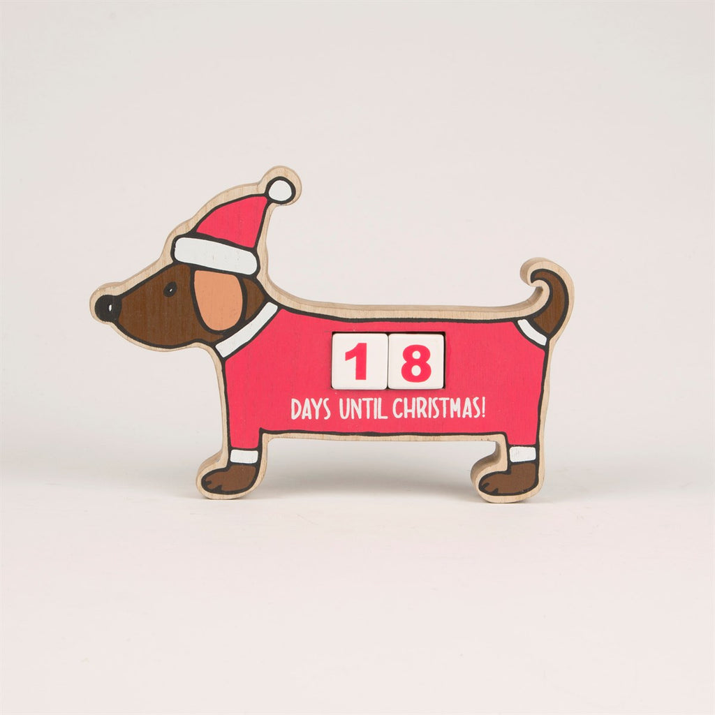 Christmas Dachshund Advent Calendar Block