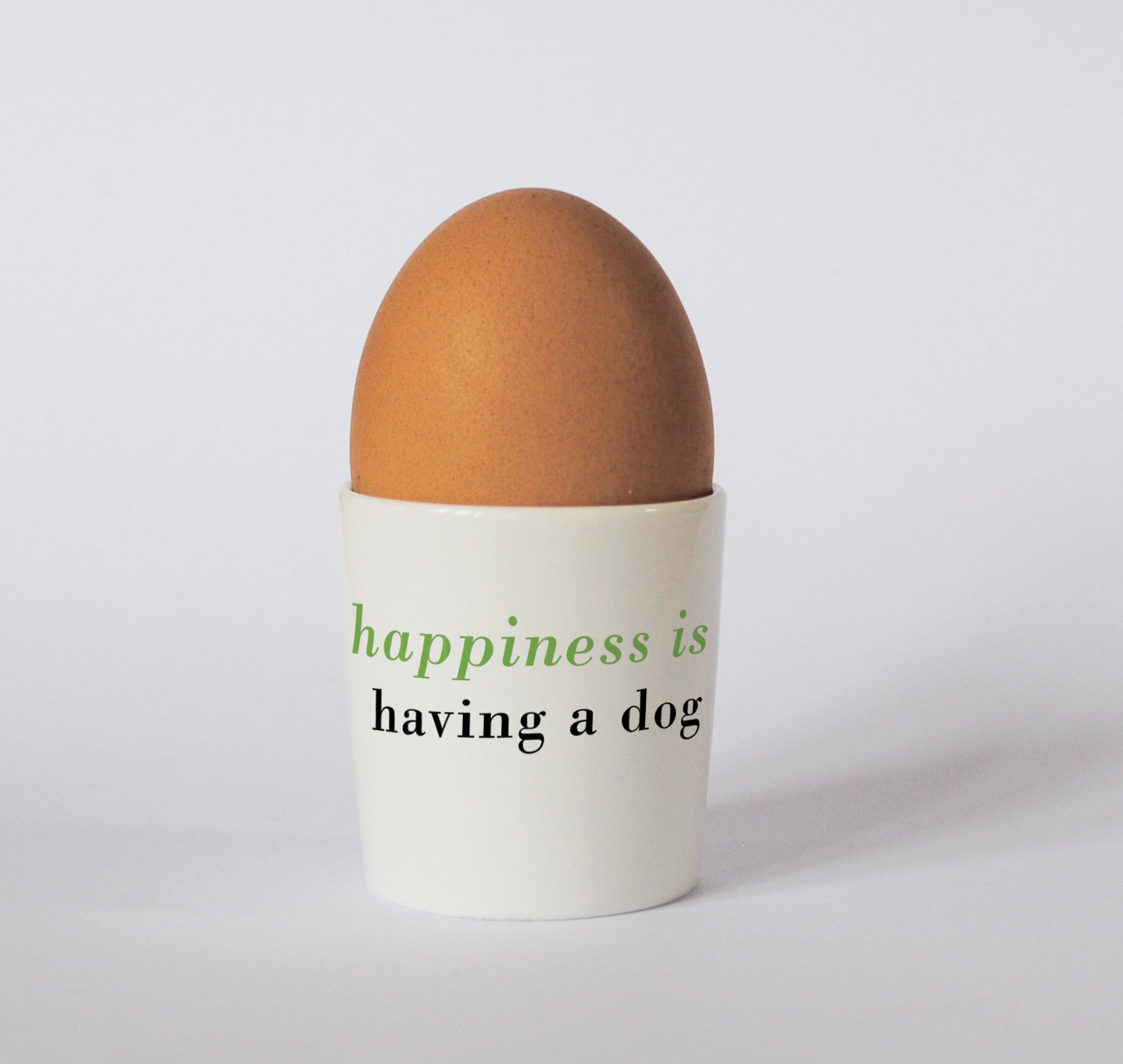 Happiness Sausage Dog Egg Cup