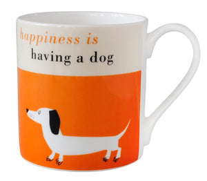 Happiness Sausage Dog Mug