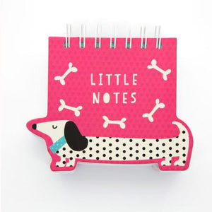 Sausage Dogs A6 Pink Shaped Notebook