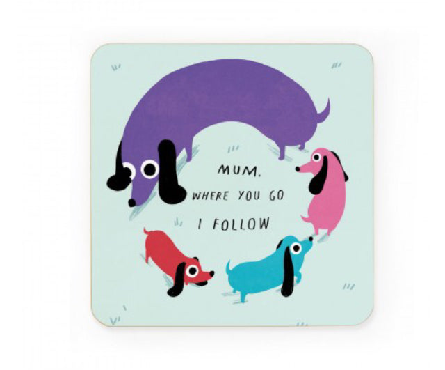 Sausage Dog Circle Coaster