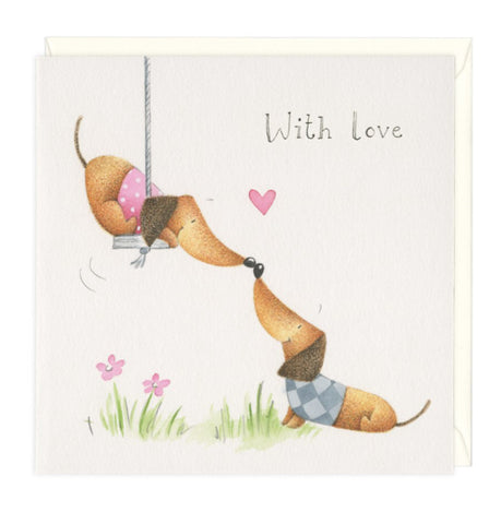 With Love Dachshund Greeting Card