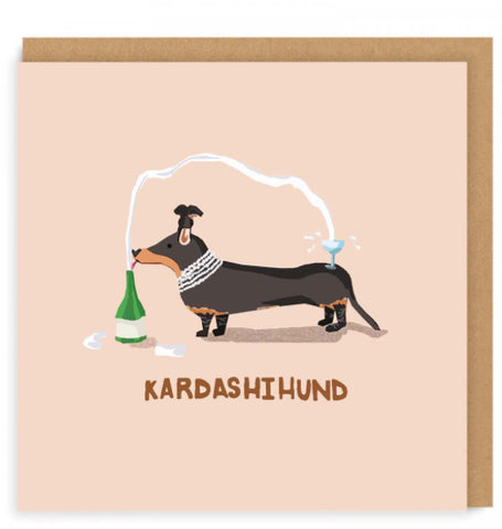 Kardashihund Square Greeting Card