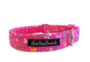 Pretty In Pink Dog Collar