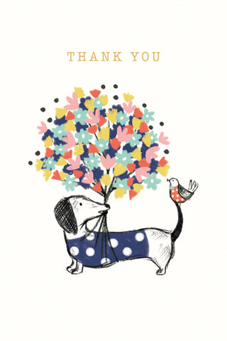 Dachshund Thank You Boxed Notecards