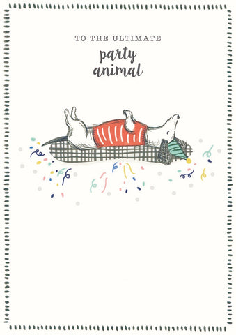 Happy Birthday To The Ultimate Party Animal Dachshund Greeting Card