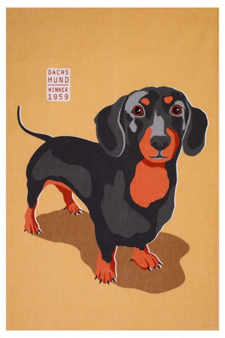 "Dachshund  ""RALF"" Cotton Tea Towel"