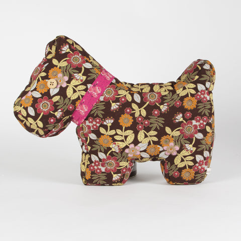 Ruby Scottie Dog Cushion