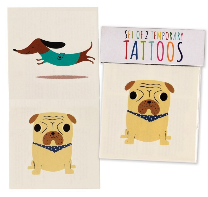 Dog Temporary Tattoos (set of 2)