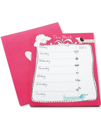 Sausage Dog Weekly Planner Pad