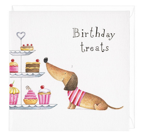 Dachshund Birthday Treats Greeting Card