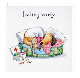 Feeling Poorly Dachshund Greeting Card