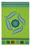 Elephant Parade Sarawak Motif Cotton Tea Towel