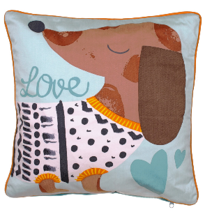 Dachshund Puppy Love Cushion