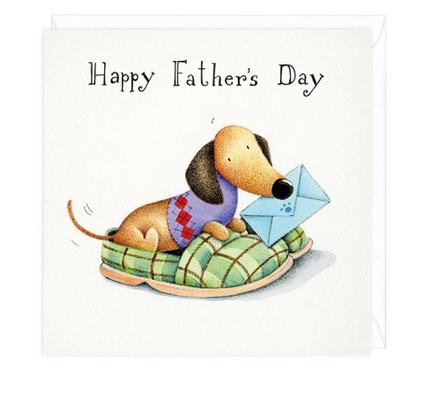 Happy Father's Day Dachshund Greeting Card